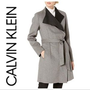 w/TAG CALVIN KLEIN Double Faced Wool COAT Jacket